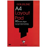 Goldline Layout Pad / A4 / 50gsm / 80 Sheets / Pack of 5