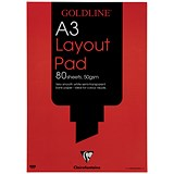 Image of Goldline Layout Pad / A3 / 50gsm / 80 Sheets / Pack of 5