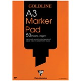 Image of Goldline Marker Pad / A3 / Bleedproof / 70gsm / 50 Sheets / Pack of 5