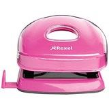 Image of Rexel JOY 2-Hole Punch / Pretty Pink / Punch capacity: 12 Sheets
