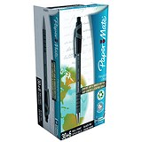 Image of Paper Mate Flexgrip Retractable Ball Pen / Medium / 1.0mm Tip / 0.4mm Line / Black / Pack of 36