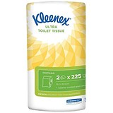 Image of Kleenex Small Toilet Rolls / 2-ply / 2 Rolls of 225 Sheets per Pack / 24 Packs