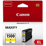 Image of Canon PGI-1500XL High Yield Yellow Inkjet Cartridge