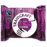 Traidcraft Fairtrade Double Choc Cookies / 2 Biscuits per Minipack / Pack of 16