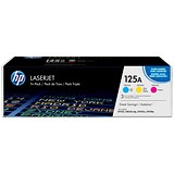 Image of HP 125A Laser Toner Cartridges - Cyan, Magenta and Yellow (3 Cartridges)