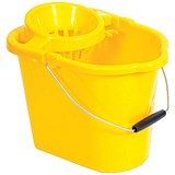 Oval Mop Bucket / 12 Litre / Yellow