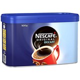 Image of Nescafe Original Decaffeinated Coffee - 500g Tin