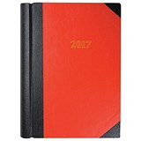 Image of Collins 2017 Luxury Desk Diary / 2 Pages to a Day / Red / A4