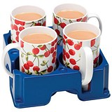 Image of Mug Carrier for 4 Large Mugs - Blue