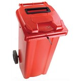 Image of Wheelie Bin Slot & Lid Lock / 140 Litre / Red