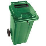 Image of Wheelie Bin Slot & Lid Lock / 240 Litre / Green