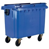 Image of Four-Wheeled Bin / 770 Litre / 55kg / W1350xD770xH1360mm / Blue