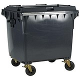 Image of Four-Wheeled Bin / 1100 Litre / 67kg / W1400xD1200xH1450 / Grey