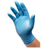 Image of Nitrile Powdered Gloves / Medium / Blue / 50 Pairs
