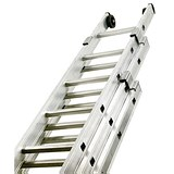 Image of Aluminium Push Up Ladder / 3 Section / Rungs 3x8