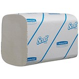 Image of Scott Xtra Hand Towels / 1-Ply / White / 15 Sleeves of 320 Sheets