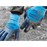 Image of Polyco Smart Tip Touchscreen Nitrile Gloves / Size 8 / Pair