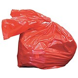 Image of Medium Laundry Bags / Dissolving Strips / 50 Litre / Red / Pack of 200