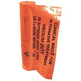 Image of Clinical Waste Bags / Medium Duty / 8kg Capacity / Orange / Pack of 50