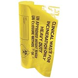 Image of Clinical Waste Bags / Heavy Duty / 12Kg Capacity / Yellow / Pack of 50