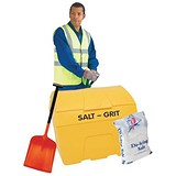 Image of Winter Kit / Yellow Salt Bin 200L / White Salt Bags 2 x 25kg / Shovel Gloves / Hi-Vis Jacket