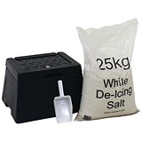 Image of Mini Grit Bin with Scoop and 25kg Salt Bag
