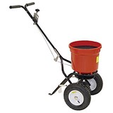 Image of Salt Spreader / Coverage 3m / Capacity 22kg / Pneumatic Tyres / Red