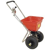 Image of Salt Spreader / Coverage 3m / Capacity 57kg / Pneumatic Tyres / Red