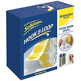 Sellotape Removable Hook Spots - Pack of 125