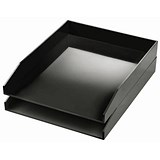 Image of Avery ColorStak Letter Tray / Black / Pack of 2