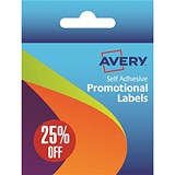 "Image of Avery Label Dispenser with 500 Pre-printed Labels (""25% Off"")"