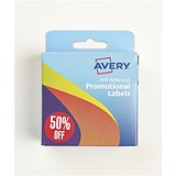 "Image of Avery Label Dispenser with 500 Pre-printed Labels (""50% Off"")"
