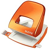 Image of Leitz NeXXt WOW Hole Punch / Orange / Punch capacity: 30 Sheets