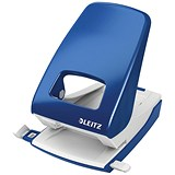 Image of Leitz NeXXt Hole Punch / Blue / Punch capacity: 40 Sheets