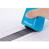 Image of Rexel ID Guard Roller - Blue with Black Ink