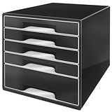 Image of Leitz WOW 5 Drawer Desk Cube - Black