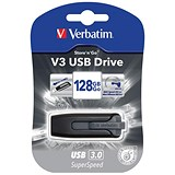 Verbatim V3 USB 3.0 Drive / 128GB / Black & Grey