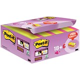 Image of Post-it Super Sticky Colour Notes / 51x51mm / Pack of 24