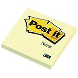 Image of Post-it Notes / 76x76mm / Yellow / Pack of 16