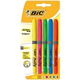 Image of Bic Briteliner Grip Highlighter Pens / Chisel Tip / Assorted / Pack of 5