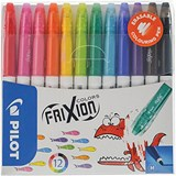 Image of Pilot Erasable Felt Pens / Assorted / Pack of 12