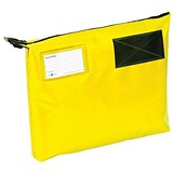 Image of A4+ Mailing Pouch with Gusset & Lockable Zip / 381x336x76mm / Yellow