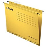 Image of Esselte Classic Reinforced Suspension Files / Foolscap / Yellow / Pack of 25