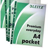 Image of Leitz Premium Everyday Pockets / A4 / Pack of 100