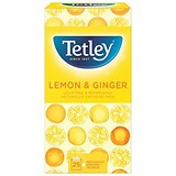 Tetley Tea Bags / Green Tea with Lemon & Ginger / Pack of 25