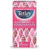 Tetley Raspberry and Pomegranate Infusion / Individually-wrapped / Pack of 25