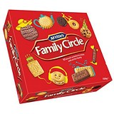 Image of Crawfords Family Circle Biscuits / Re-sealable Box / 10 Varieties / 800g