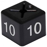 Coat Hanger Size Cubes (Size 10) / / 11x11mm / Black / Pack of 50