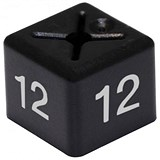 Coat Hanger Size Cubes (Size 12) / 11x11mm / Black / Pack of 50