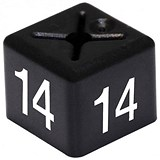 Coat Hanger Size Cubes (Size 14) / 11x11mm / Black / Pack of 50